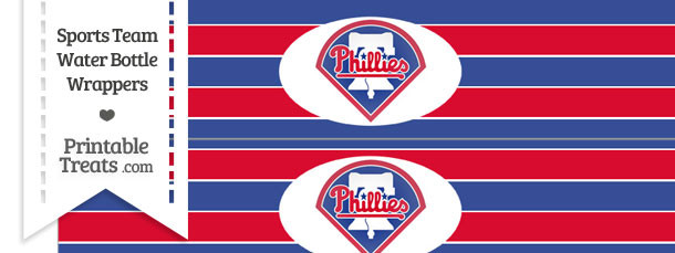 Philadelphia Phillies Water Bottle Wrappers