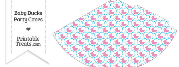 Pink Baby Ducks Party Cone