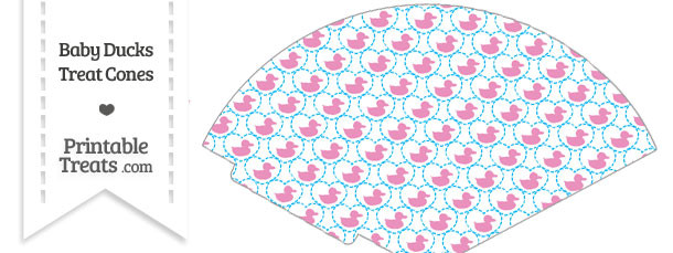 Pink Baby Ducks Treat Cone