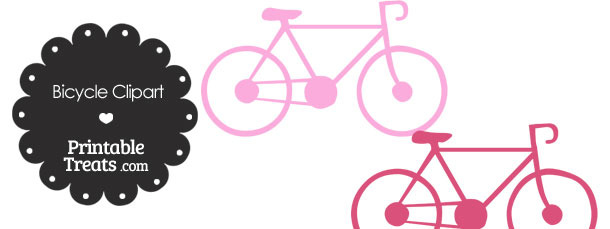 Pink Bicycle Clipart