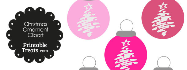 Pink Christmas Tree Christmas Ornament Clipart