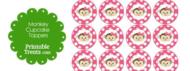 free-pink-polka-dot-monkey-cupcake-toppers