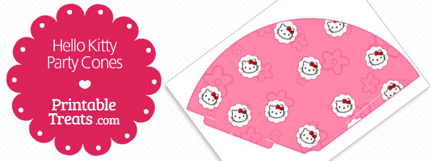 free-pink-printable-hello-kitty-party-cones