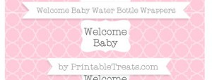 free-pink-quatrefoil-pattern-welcome-baby-water-bottle-wrappers-to-print