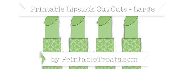Pistachio green fish scale pattern large lipstick cut outs for Fish scale coke cut