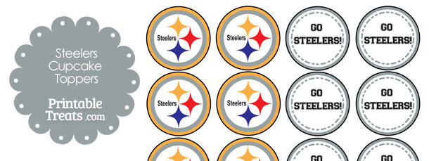 photograph relating to Steelers Printable Schedule called Printable Steelers Symbol Cupcake Toppers Printable