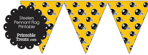 Pittsburgh Steelers Football Helmet Pennant Banners