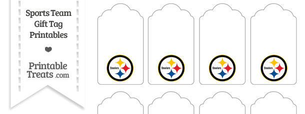 Pittsburgh Steelers Gift Tags