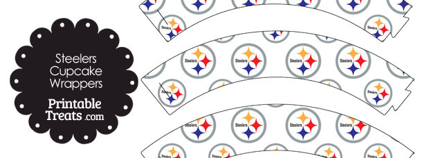Pittsburgh Steelers Logo Cupcake Wrappers