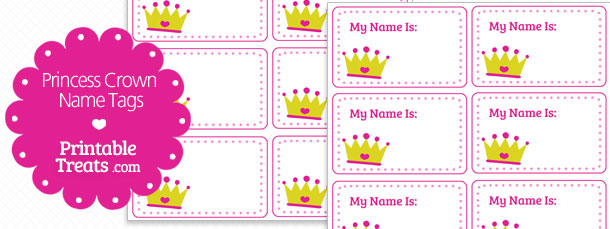 free-princess-crown-name-tags