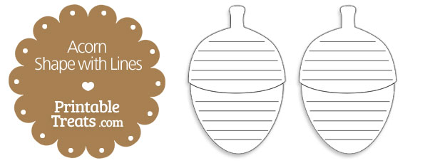 free-printable-acorn-shape-with-lines