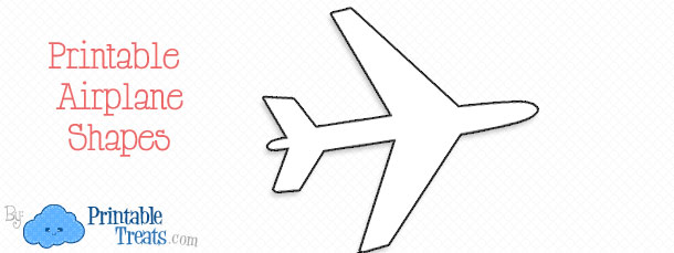 cut out airplane template printable airplane shapes printable
