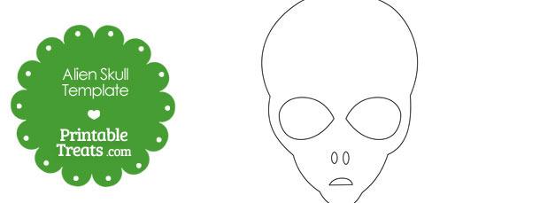 Printable Alien Skull Template