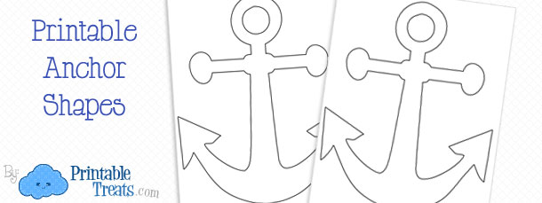 image regarding Mickey Anchor Printable named Printable Anchor Template Printable