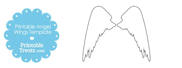 Printable Angel Wings Outline