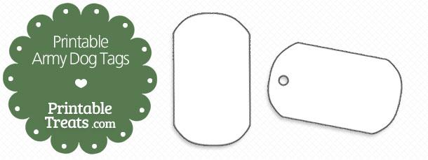 Printable Army Dog Tags — Printable Treats.com