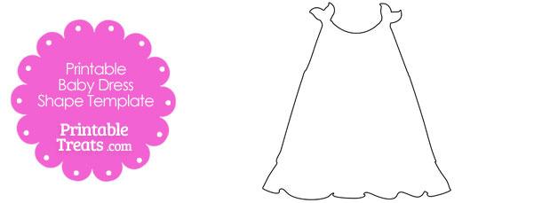 printable baby dress shape template printable. Black Bedroom Furniture Sets. Home Design Ideas