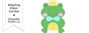 Printable Baby Frog Prince Cut Out