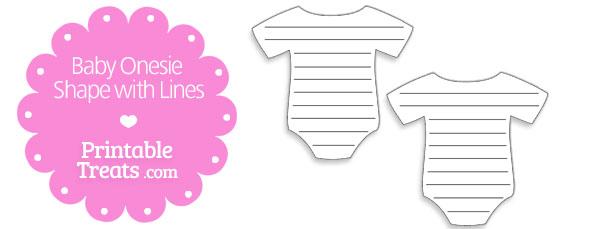 Printable Baby Onesie Shape With Lines Printable Treats Com