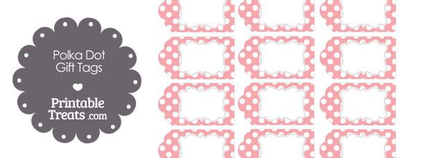 Printable baby pink polka dot gift tags printable treats free printable baby pink polka dot gift tags negle Gallery