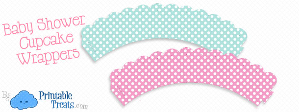 graphic about Printable Cupcake Wrappers known as Totally free Printable Boy or girl Shower Cupcake Wrappers Printable