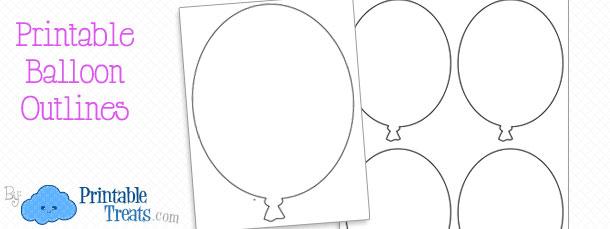 photograph relating to Balloon Printable titled Totally free Printable Balloon Determine Printable