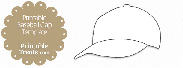 printable baseball cap template printable treats com