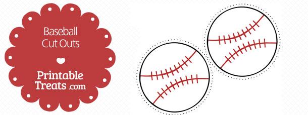 graphic about Baseball Printable called Printable Baseball Slice Outs Printable