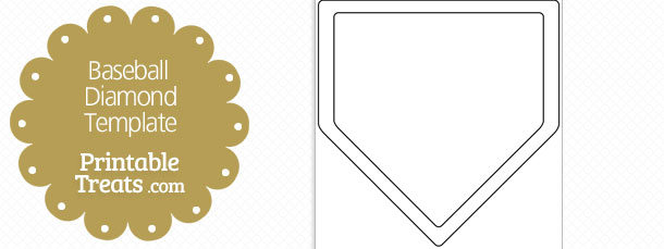 Printable Baseball Diamond Shape Template — Printable Treats.com