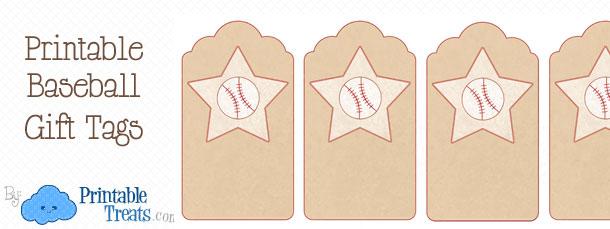 image regarding Free Printable Baseball Tags named Printable Baseball Reward Tags Printable