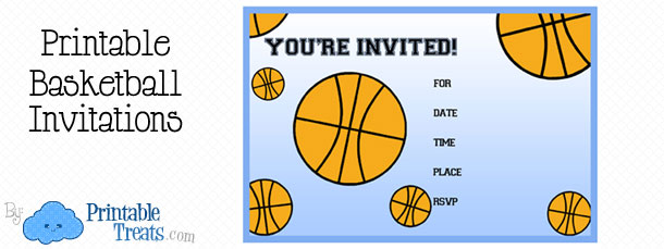 printable basketball birthday party invitations  printable treats, party invitations