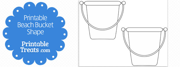 photo regarding Bucket Printable called Printable Beach front Bucket Form Template Printable