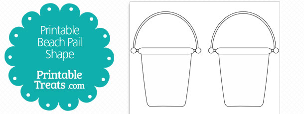 Free Printable Beach Pail Shape Template
