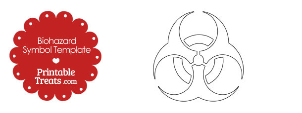 photograph relating to Biohazard Sign Printable identified as Printable Biohazard Emblem Template Printable