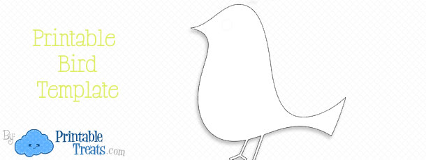 Printable Bird Template Printable Treats – Bird Template
