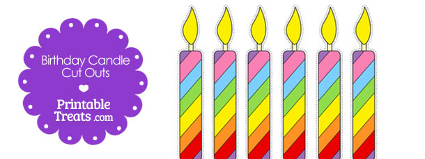 image about Birthday Candle Printable referred to as Printable Birthday Candle Minimize Outs Printable
