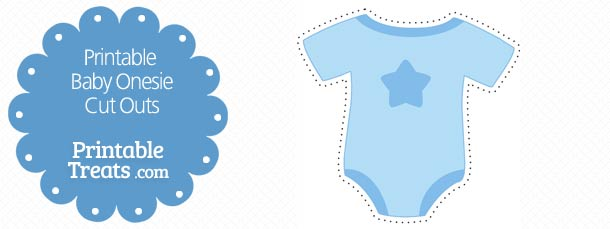 Printable Blue Baby Onesie Cut Outs