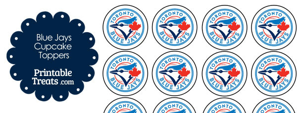 Printable Blue Jays Cupcake Toppers