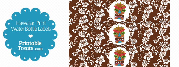 free-printable-brown-hawaiian-print-water-bottle-labels