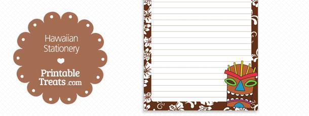 free-printable-brown-hawaiian-stationery