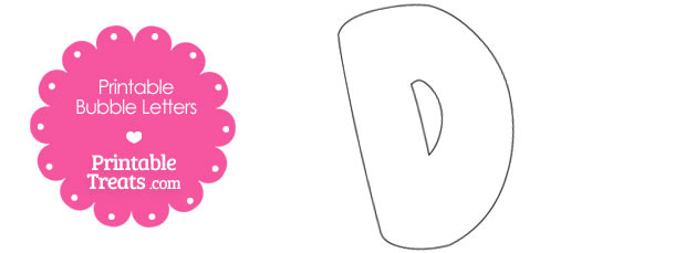Printable Bubble Letter D Template — Printable Treats.com
