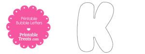 Printable Bubble Letter K Template