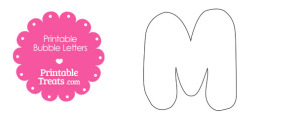 Printable Bubble Letter M Template
