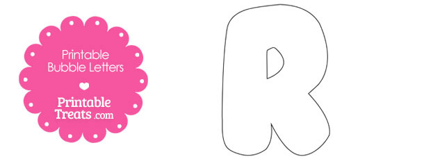 printable bubble letter r template