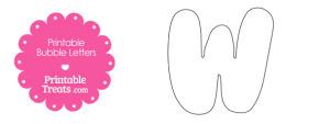 Printable Bubble Letter W Template