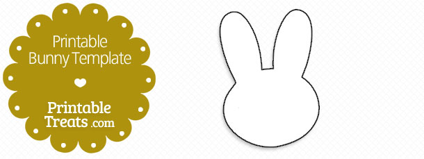 printable bunny template printable treats com