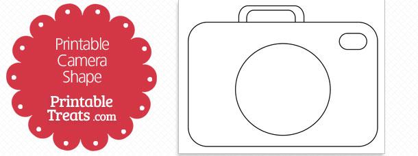 printable camera shape template  u2014 printable treats com