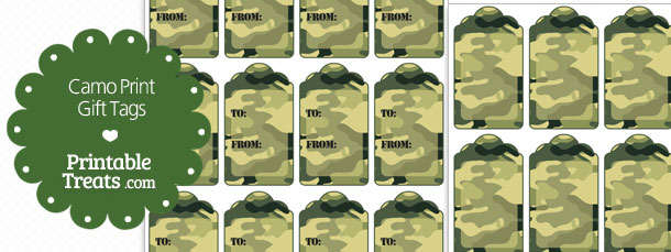 photograph about Camo Printable named Printable Camo Reward Tags Printable