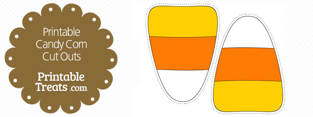 Free Printable Candy Corn Cut Outs
