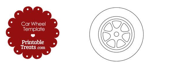 Printable Car Wheel Template Printable Treats – Printable Car Template